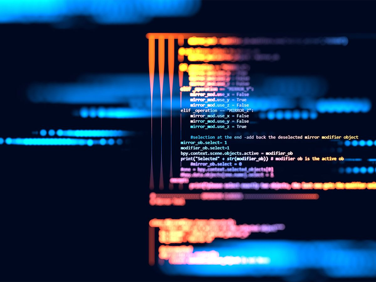 Image of a computer screen with code on it