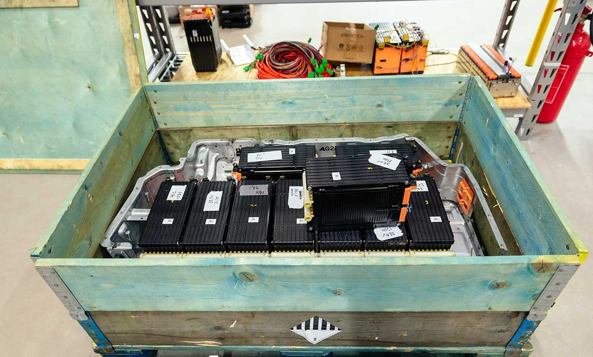 Used lithium-ion batteries from electric vehicle are already finding a second life.