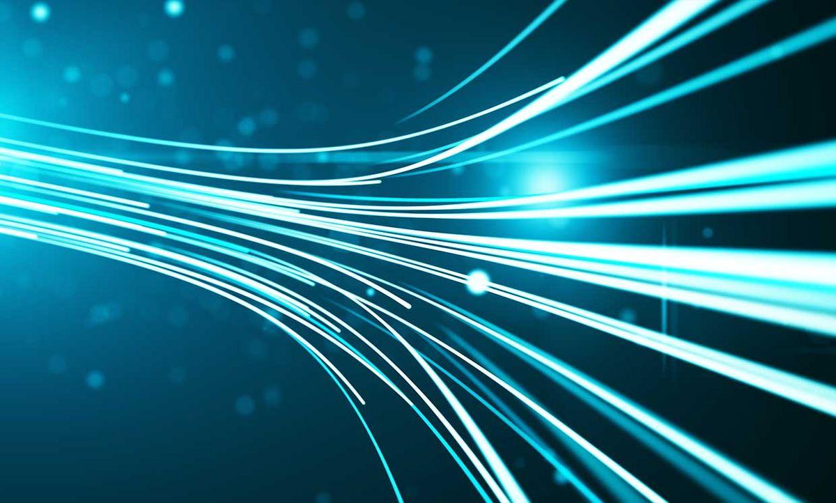 A conceptual illustration of high speed optical fiber