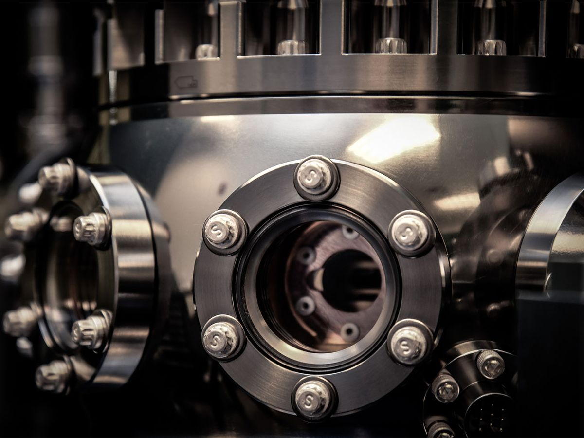 Honeywell's quantum computer traps ions within a vacuum chamber.