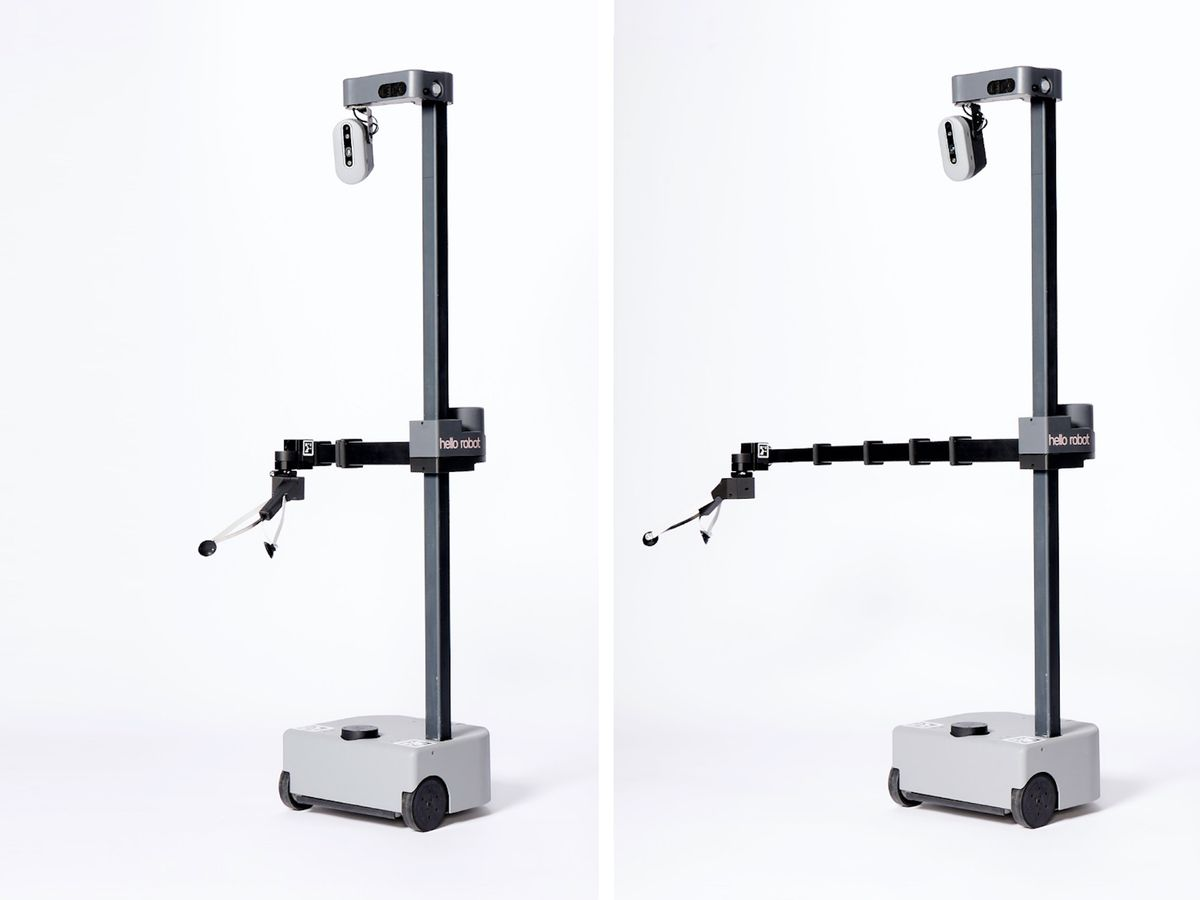 Hello Robot, founded by former Google robotics director Aaron Edsinger and Georgia Tech professor Charlie Kemp, is introducing Stretch, a mobile manipulator that weighs only 23 kg and costs less than $20,000.