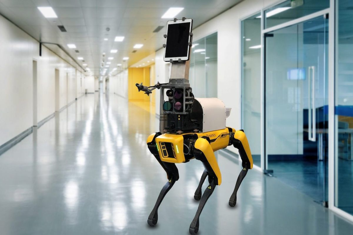 Boston Dynamics' Spot robot can be used in COVID triage tents