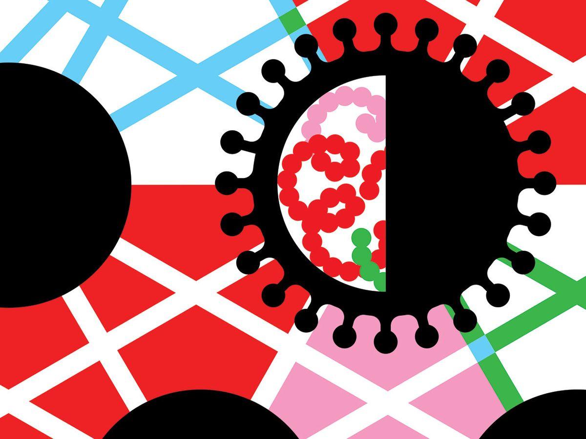 Illustration of the COVID virus
