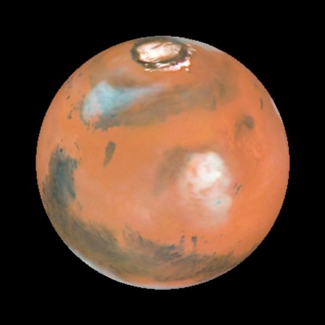 NASA's Hubble Space Telescope captured these sharp views of Mars during the planet's close approach to Earth in 1999.
