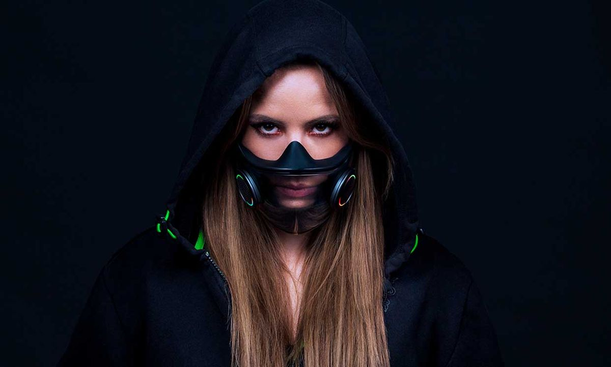 Razer's N-95 Project Hazel mask includes clear panels and a light to allow whoever you're talking to see your mouth move.