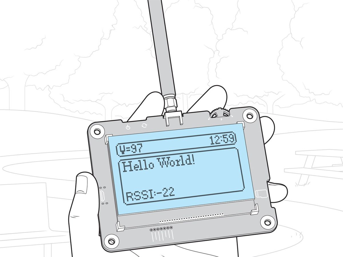 """Illustration of a device saying """"Hello Word"""""""