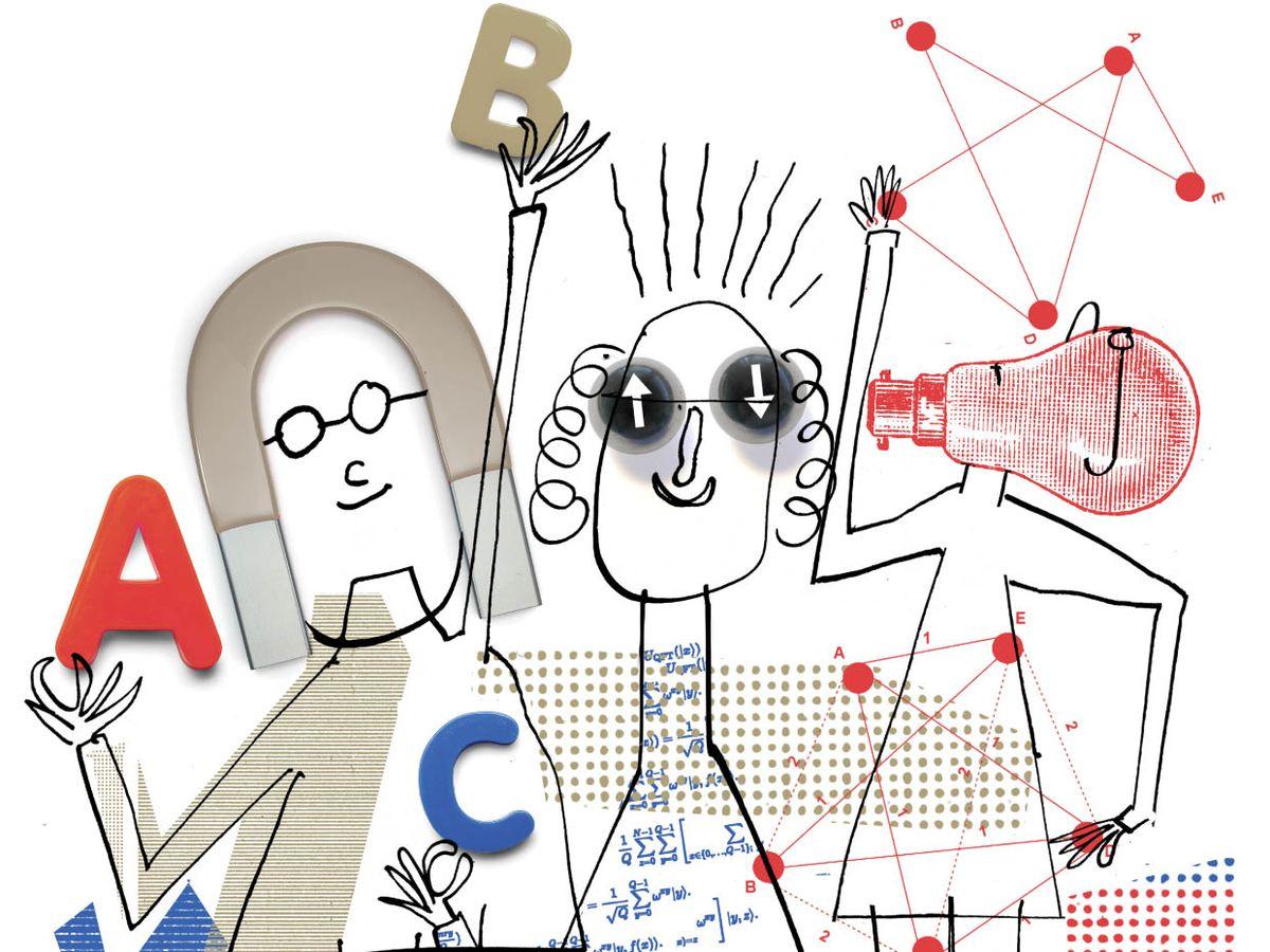 Illustration of three people.