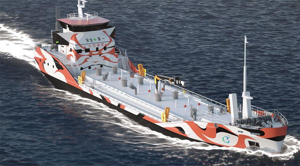 batter powered shipping tanker