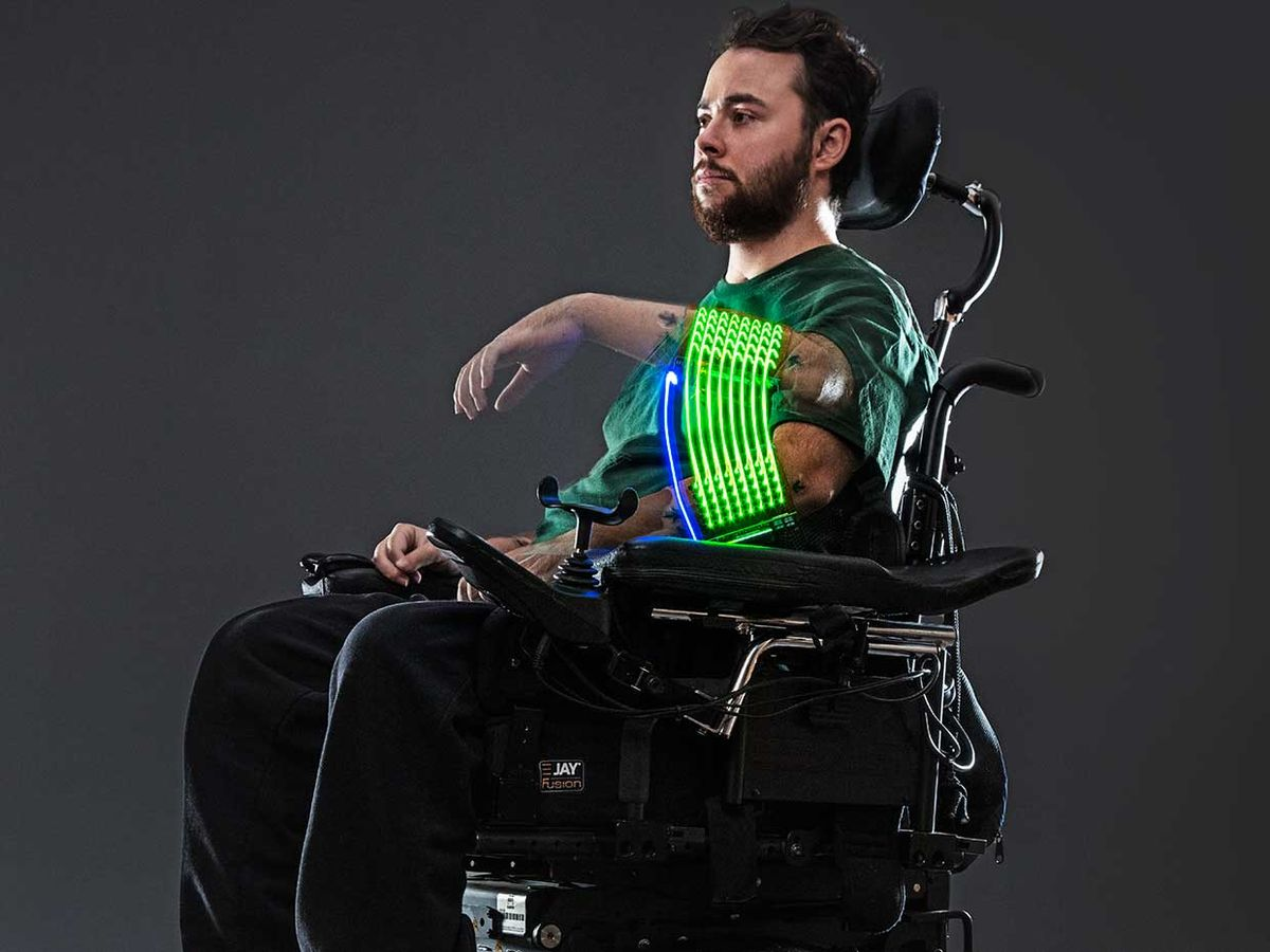 Photo of a man in a wheelchair.