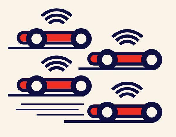 illustration of 4 remote cars.