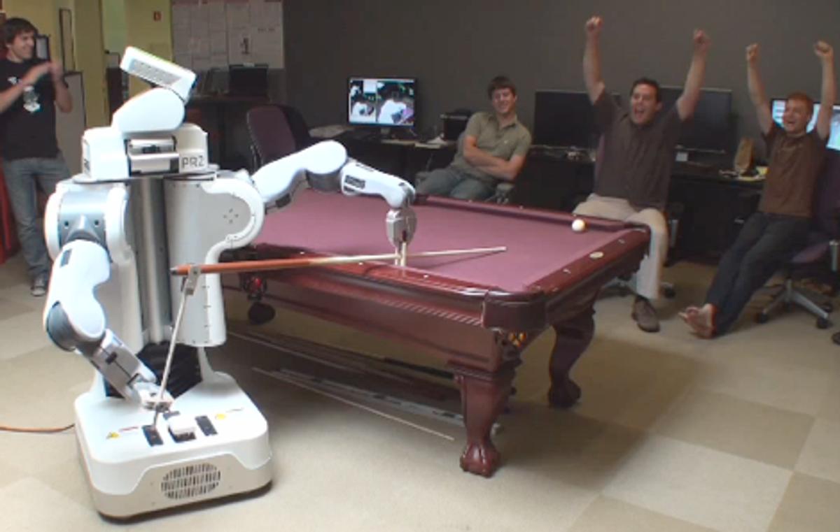 Willow Garage PR2 Robot Now Plays Pool