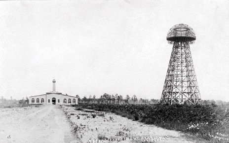 POWER TOWER: In the early 20th century, Nikola Tesla planned to use this immense tower to send power wirelessly.