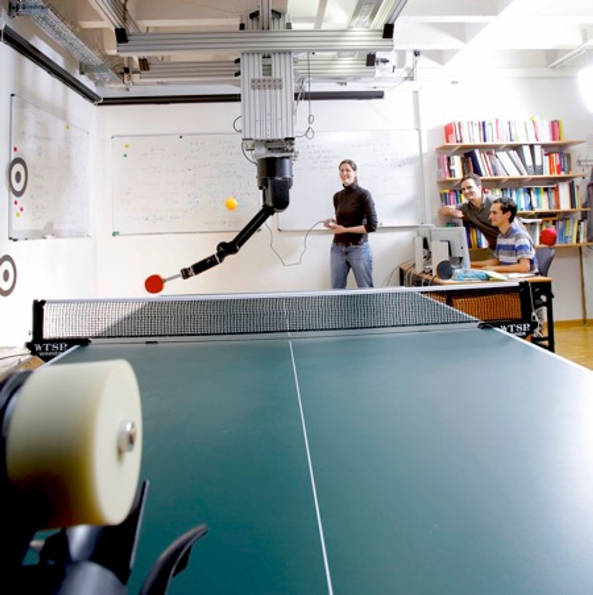 Ping Pong Robot Learns by Doing