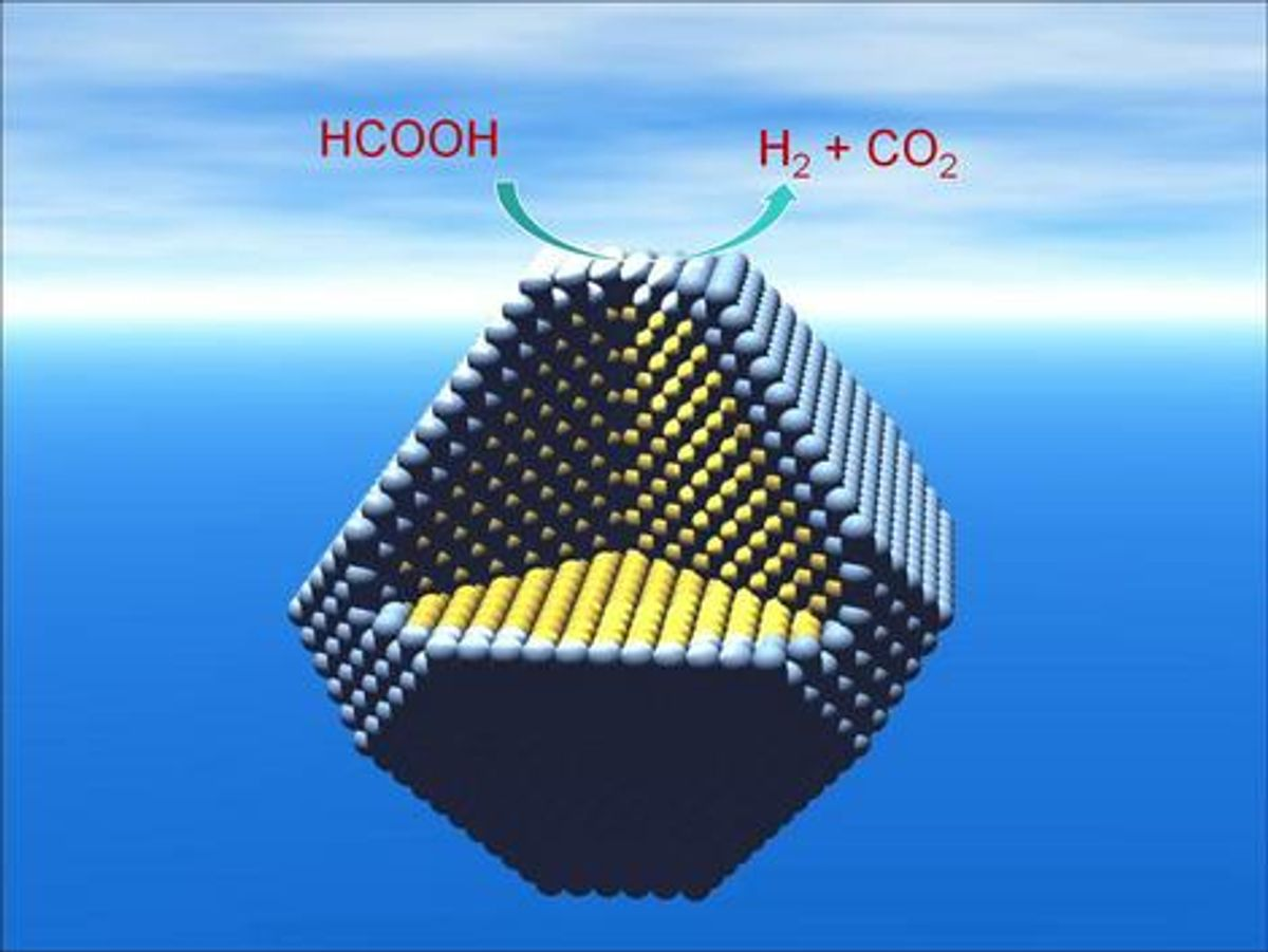 Silver Nanoparticles Enable Palladium to Become More Effective Catalyst for Fuel Cells