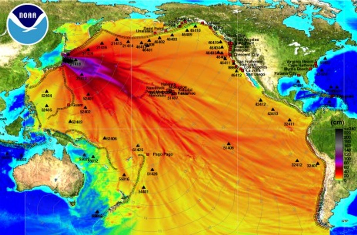 How to Track a Dangerous Tsunami Across the Pacific