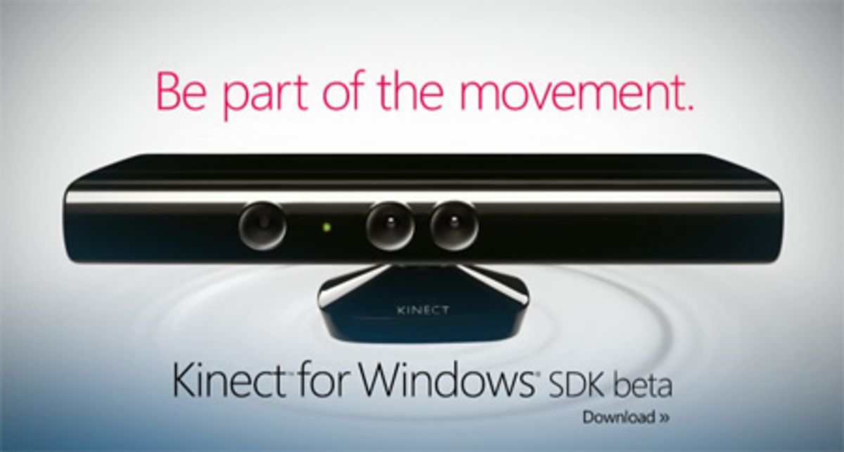 Microsoft Releases Kinect SDK, Roboticists Cackle With Glee
