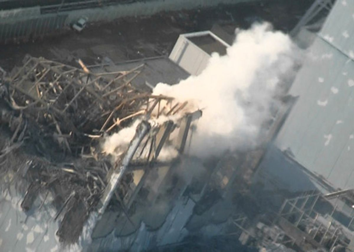 Helicopters and Cannons Spray Water on Japan's Unstable Nuclear Plant