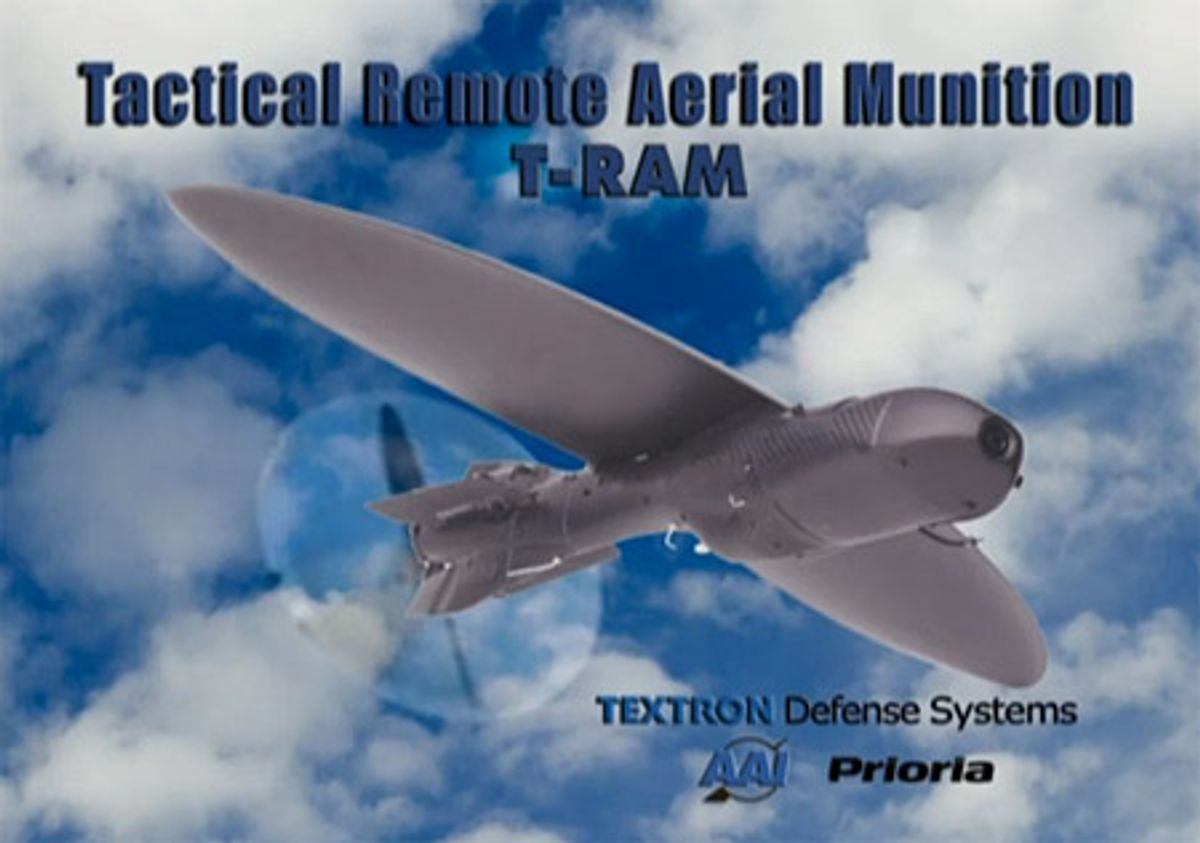Textron's T-Ram is the Suicidal Mini-UAV You've Always Wanted