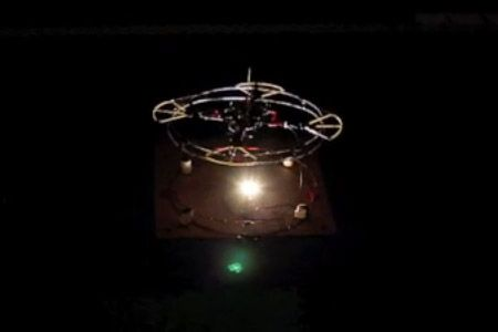 Quadrotors Turned Into Flying Wireless Battery Chargers
