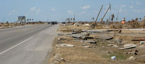 Gilchrist, Texas, was knocked flat by Hurricane Ike.
