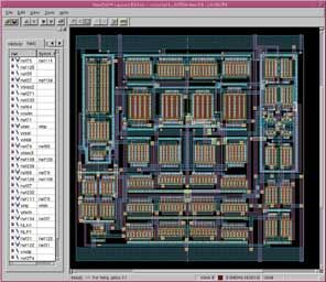 Tools like Neolinear's NeoCell automate the placement and routing of analog circuits