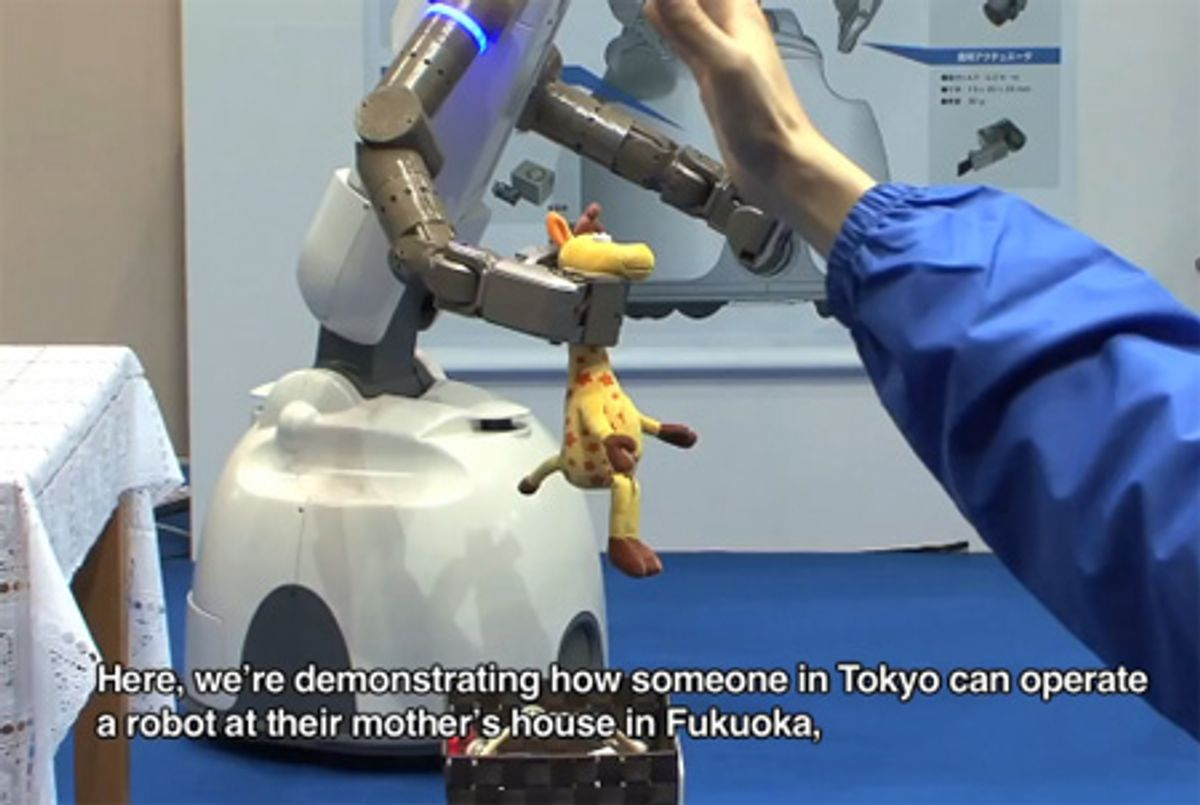 Kinect-Powered Robot Lets You Clean Up Your House Remotely