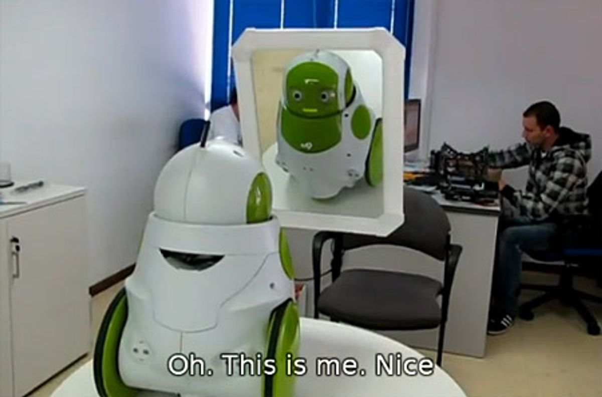 Qbo Robot Passes Mirror Test, Is Therefore Self-Aware