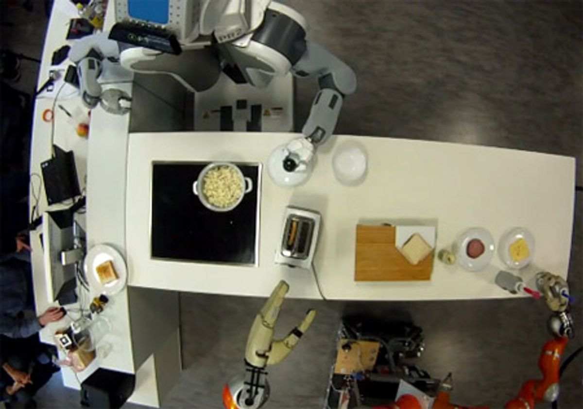Kitchen Robots Graduate from Pancakes to Popcorn, Sandwiches