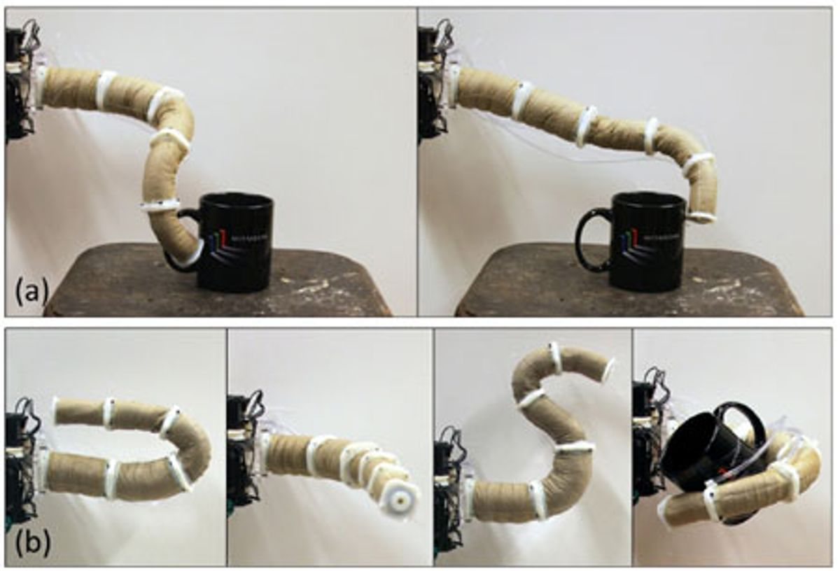 Jamming Grippers Combine to Form Robotic Elephant Trunk
