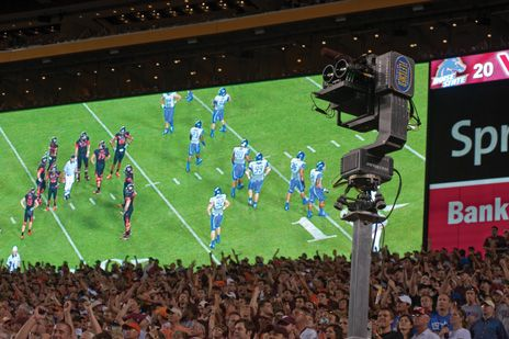 photo of 3-D camera recording a 2010 football game