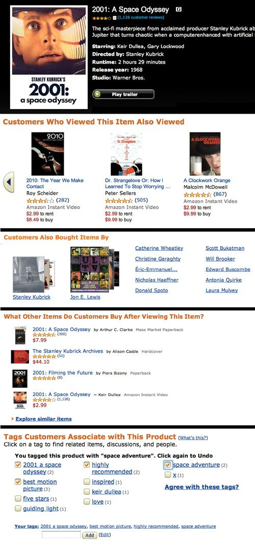 screen shot example of amazon.com