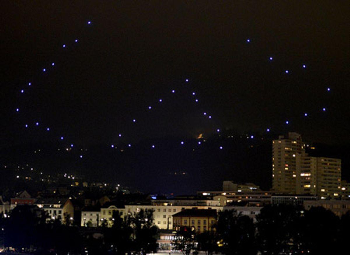Fifty Quadrotors Put on Glowing Sky Show in Austria