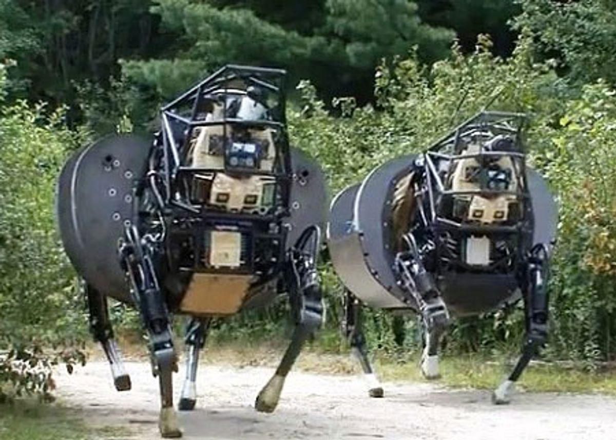 Latest AlphaDog Robot Prototypes Get Less Noisy, More Brainy