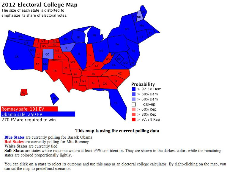 illustration electoral college map