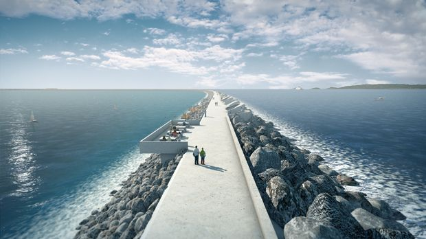 Turning the tide: A £650 million (US $1 billion) tidal power project would create a lagoon in Wales's Swansea Bay. Environmentalists are pleased.