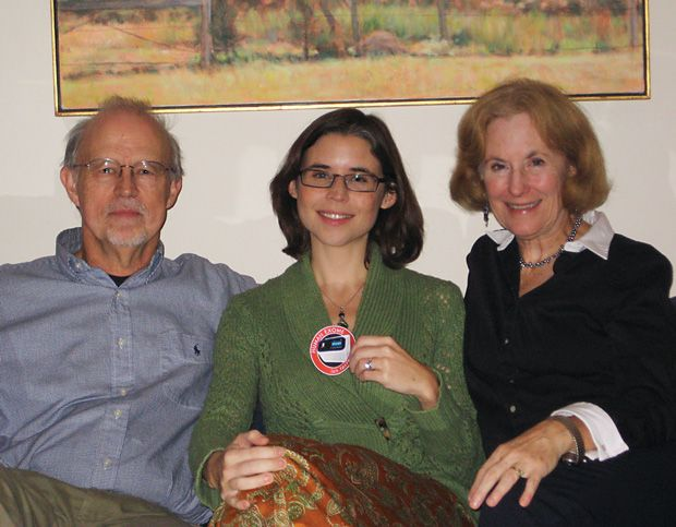Author Eliza Strickland and her parents