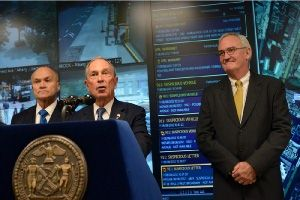 NYPD Commissioner Ray Kelly, NY Mayor Michael Bloomberg, and Microsoft VP Mike McDuffie announce Domain Awareness System