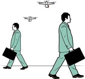 illustration future of personal drones