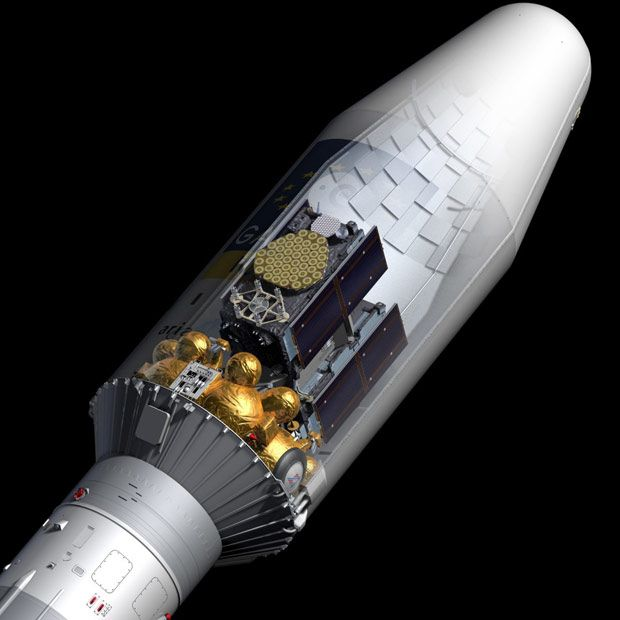 Illustration of Fregat upper stage used to deploy Galileo satellites