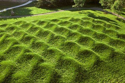 University of Michigan's Wave Field, by Maya Lin