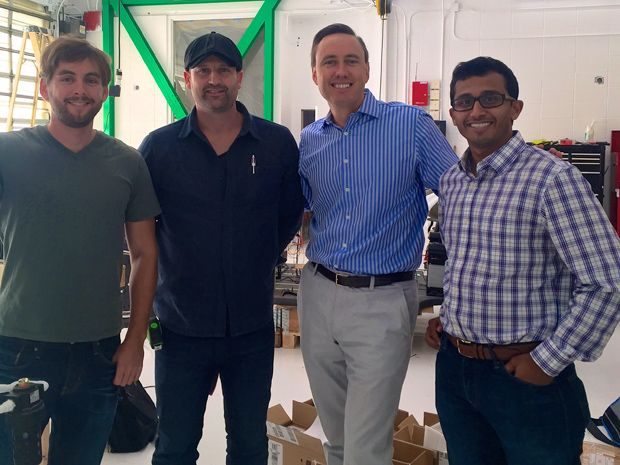 Venture capitalist Steve Jurveston with Kentley-Clay and others from Zoox