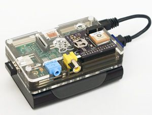 photo of Rasberry Pi with added upgrades