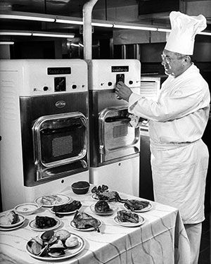 Photo Roy Stevens Getty Images The First Microwave Ovens From Raytheon Were Intended For Use In Restaurants And On Airplanes Img