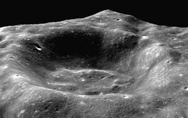 Photo of the Coulomb C crater.