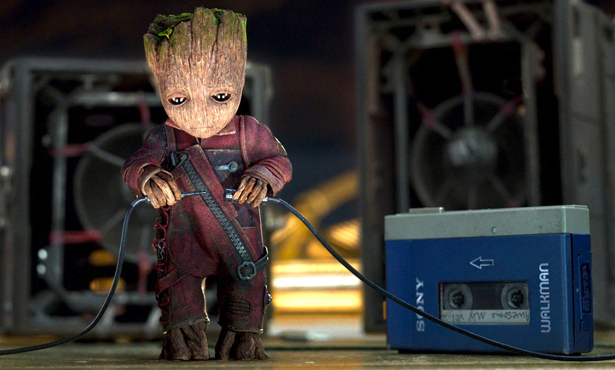 photo of Groot with Walkman