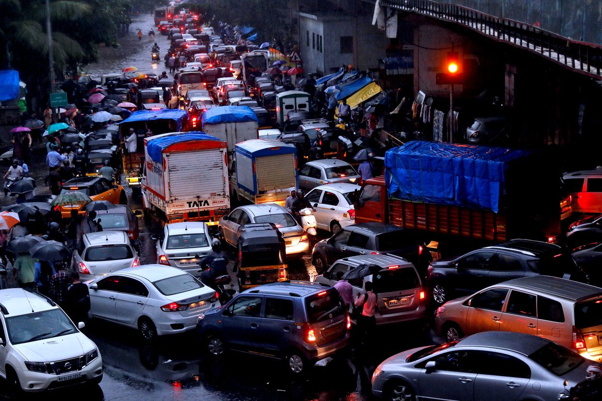 photo of Mumbai's monsoon season gridlock