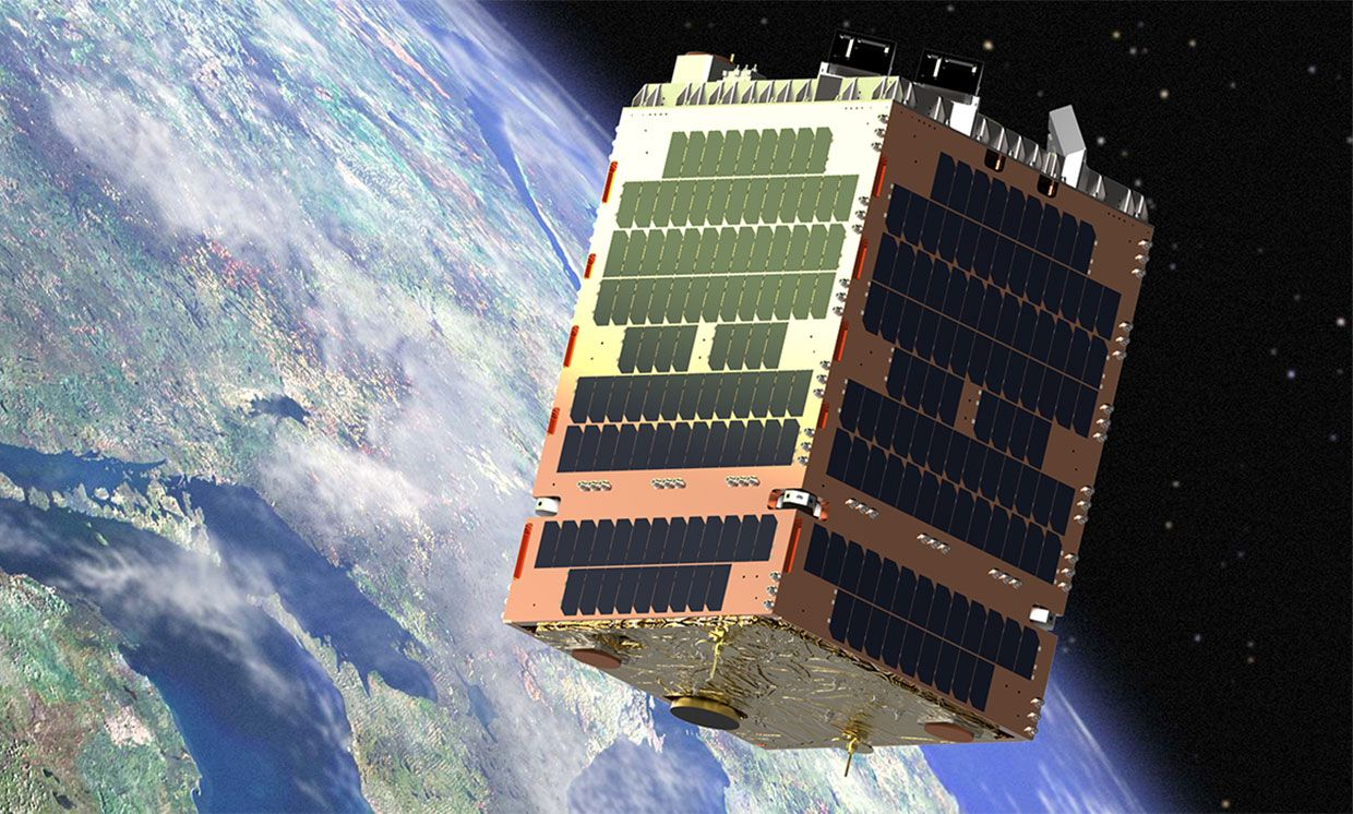 An artist rendering of the Phase 1 test satellite that Telesat currently has in orbit.