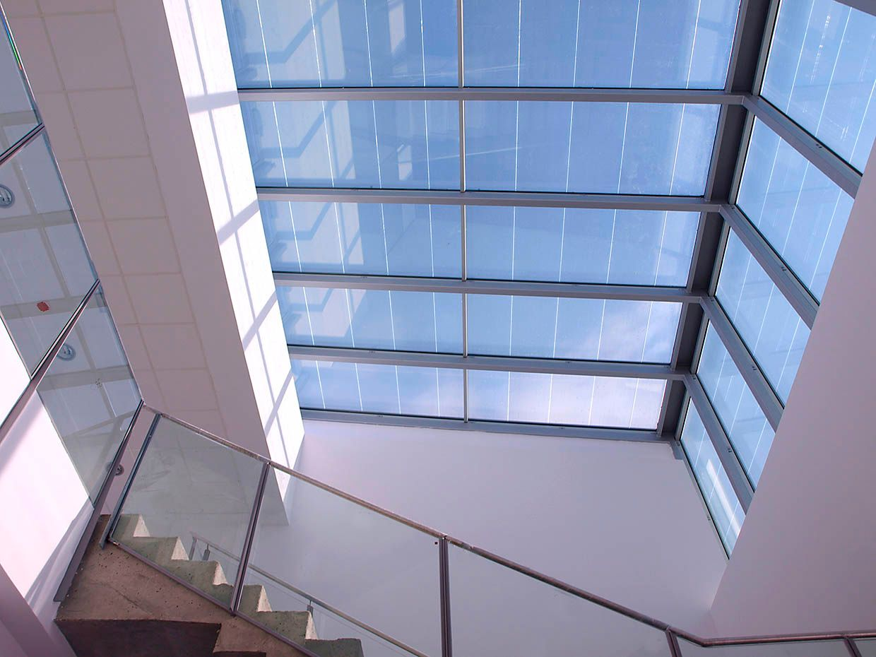 Photo of the skylight at the Lucia Building at the University of Valladolid, Spain.