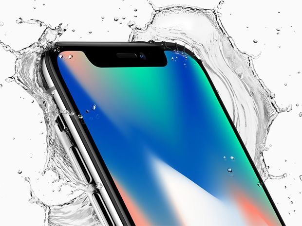 iPhone X charges wirelessly, and it's water resistant too.