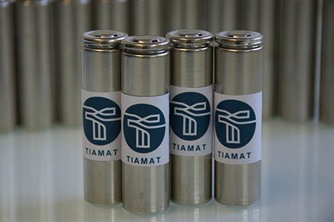 Batteries made by Tiamat, a sodium battery startup spun off from the National Center for Scientific Research in France.